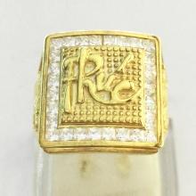 Nhẫn nam phong thủy mạ vàng 24k - RM0998