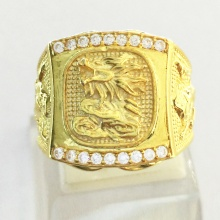 Nhẫn nam phong thủy mạ vàng 24k - RM0999