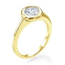 Nhẫn nữ đá kim cương nhân tạo mạ vàng 14k - NNU551