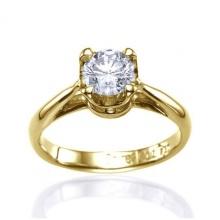 Nhẫn nữ đá kim cương nhân tạo mạ vàng 14k - NNU550