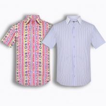 Bộ 2 áo sơ mi tay ngắn họa tiết Hàn quốc The Shirt Studio TD2
