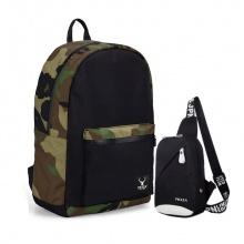 Combo balo thời trang quân đội túi đeo messenger Praza - BL168DC092