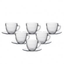 Bộ tách trà thủy tinh chịu lực Duralex Pháp Gigogne trong 220 ml