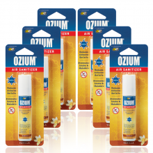 Bình xịt khử mùi Ozium Air Sanitizer Spray 0.8 oz (22g) Vanilla-OZ-23-6packs