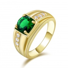 Nhẫn nam đá thạch anh mạ vàng 14k - NNAM314