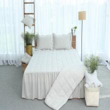 Chăn hè thu thiết kế cotton Grand - 110 x 205 - Xám nhạt