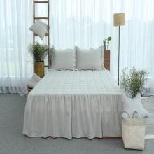 Ga phủ trần thiết kế 100% cotton - linen Grand - 150 x 190 cm - Xám nhạt