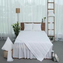 Ga phủ trần thiết kế 100% cotton - linen Grand - 150 x 190 cm - Trắng