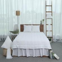 Ga phủ trần thiết kế 100% cotton - linen Grand - 180 x 200 cm - Trắng