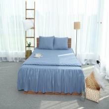 Ga phủ trần thiết kế 100% cotton - linen Grand - 120 x 200 cm - Xanh