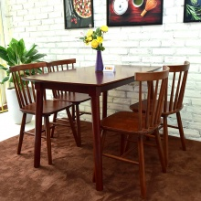 Bộ bàn ăn Pinnstol Y 4 ghế màu walnut