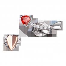 Bông tai bạc PNJSilver Fantasia đính đá màu đỏ ZTXMH000001
