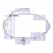 Lắc tay bạc PNJSilver hình con heo ôm trái tim XMXMK060006