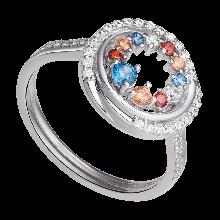 Nhẫn bạc PNJSilver Fantasia mix đá màu ZTXMK000097