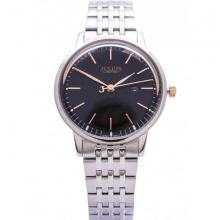 Đồng hồ nữ Julius Limited JAL-040LD JU1247 Hàn Quốc dây thép (bạc mặt đen)