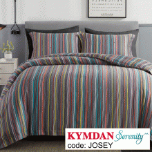 Drap Kymdan Serenity 160 x 200 cm (drap + áo gối nằm + vỏ mền) JOSEY