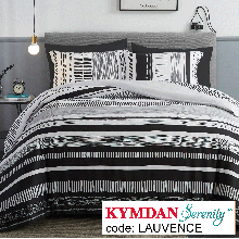 Drap Kymdan Serenity 160 x 200 cm (drap + áo gối nằm + vỏ mền) LAUVENCE