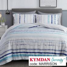 Drap Kymdan Serenity 160 x 200 cm (drap + áo gối nằm + vỏ mền) MARRISON