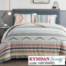 Drap Kymdan Serenity 180 x 200 cm (drap + áo gối nằm + vỏ mền) HAYWARD
