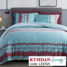 Drap Kymdan Serenity 180 x 200 cm (drap + áo gối nằm + vỏ mền) LEENA