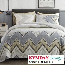 Drap Kymdan Serenity 180 x 200 cm (drap + áo gối nằm + vỏ mền) TREMERY