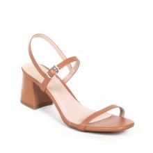 Glày nữ, giày cao gót block heel Erosska đế vuông quai mảnh tinh tế cao 7cm - EM019 (BR)