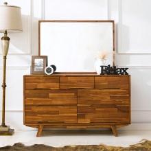 Tủ ngăn kéo 3+4 Coco gỗ tràm (có gương)