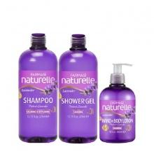 [Combo3d] bộ 3 sản phẩm tắm & gội & lotion chiết xuất lavender farmasi 1050ml