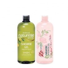 [Combo2oh] Bộ 2 gel tắm chiết xuất Olive & Hoa Hồng Farmasi 375ml/chai