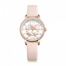 Đồng hồ nữ Julius Hàn Quốc dây da JA-1000C (hồng nhạt)