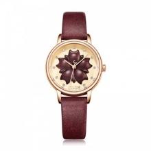 Đồng hồ nữ Julius Hàn Quốc dây da JA-1000D (đỏ)