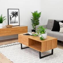 Bàn trà / sofa Blake gỗ tự nhiên (khung sắt) - Cozino