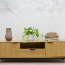 Tủ tivi Blake gỗ tự nhiên (khung sắt) - Cozino