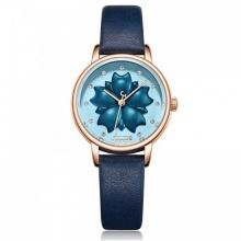 Đồng hồ nữ Julius Hàn Quốc dây da JA-1000E (xanh)