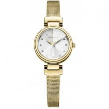 Đồng hồ nữ JA-1020B Julius Hàn Quốc dây thép (vàng)