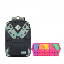 [Tặng kèm rổ 10 bàn chải nhựa Ronal đa năng] Balo thời trang [Laptop 14 inches] Ronal BL60 - Đen đồng in Camo