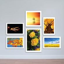 """Bộ 6 tranh hoa lá """"Sắc vàng mùa thu"""" – W1522"""