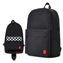Combo balo thời trang Glado BLL002 (màu đen) và túi đeo chéo GEX003 (màu đen)