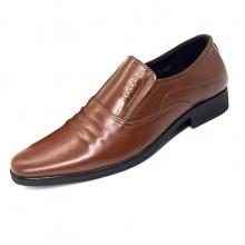 Giày lười công sở nam da bò nguyên tấm N161MN (nâu) Lucacy