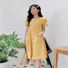 Đầm vintage tay hở - ad190052