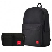 Combo balo thời trang Glado BLL002 và túi đeo chéo GEX001 (màu đen)