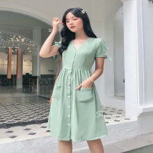 Đầm vintage tay hở - ad190051