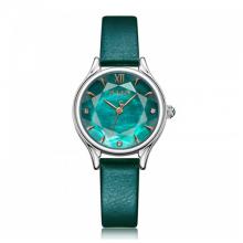 Đồng hồ nữ Julius Hàn Quốc JA-1154A ( xanh ngọc) dây da
