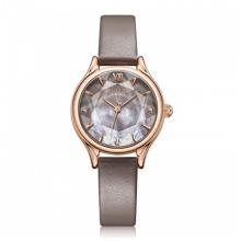 Đồng hồ nữ Julius Hàn Quốc chính hãng  JA-1154D ( xám đậm) dây da
