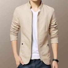 Áo khoác kaki nam kiểu vest 2 lớp cao cấp màu kem AKK001
