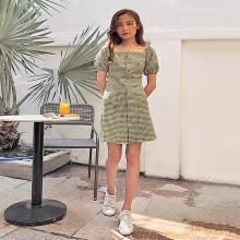 Đầm cổ vuông tay bồng - ad190065