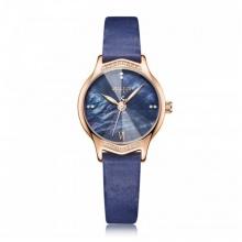 Đồng hồ  nữ JA-1155D Juliius Hàn Quốc dây da ( xanh )