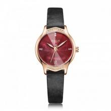 Đồng hồ  nữ JA-1155E Juliius Hàn Quốc dây da ( hồng )