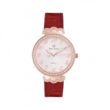 Đồng hồ nữ chính hãng Royal Crown 2609 dây da đỏ vỏ vàng hồng