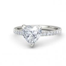 Trang sức vàng trắng đá kim cương nhân tạo - VTRG0728